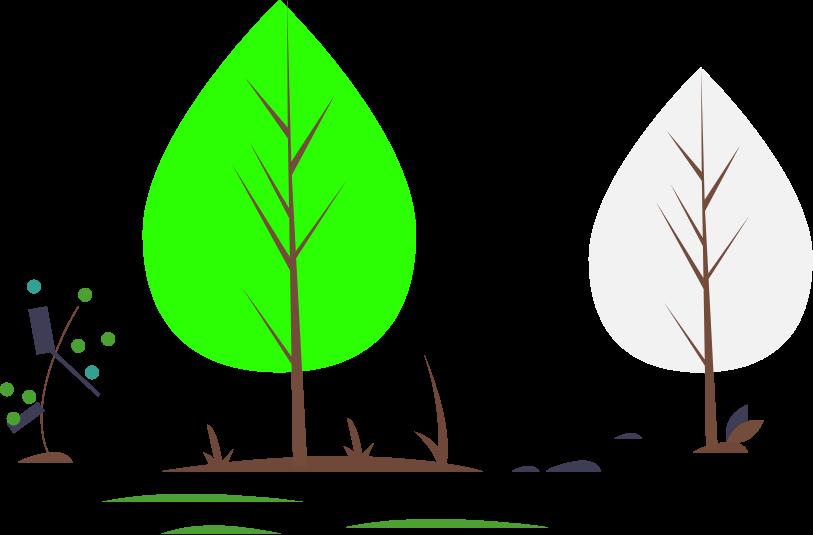 ilustracija gozda